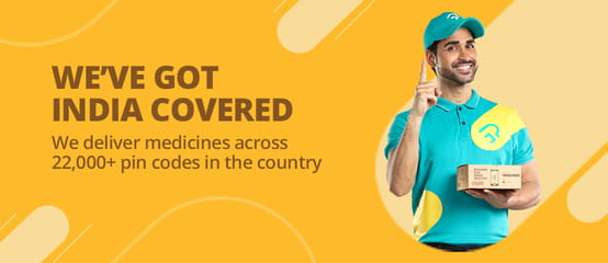 Online medicine delivery across 22000 pincodes in India